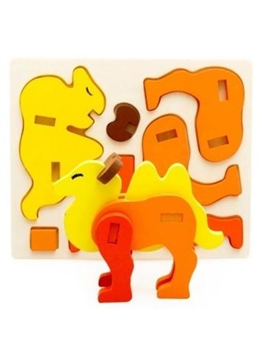Learning Toys Ahşap 3D Bulmaca Seti Renkli